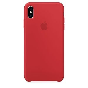 iPhone XS Max Red silicone case